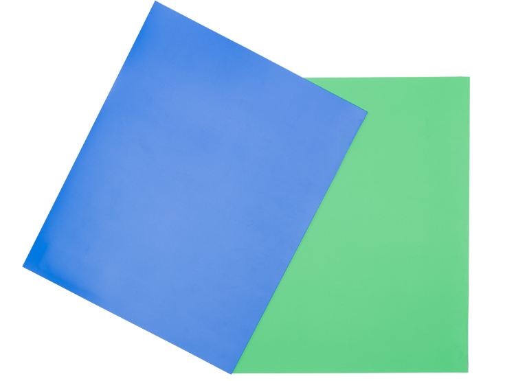 Blue and green chroma floor